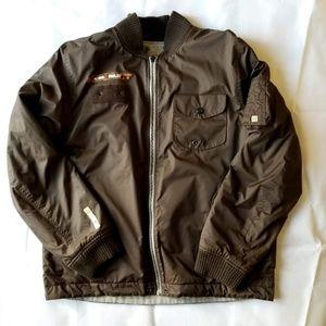 Men's Analog by Burton Brown Reversible Jacket Lg